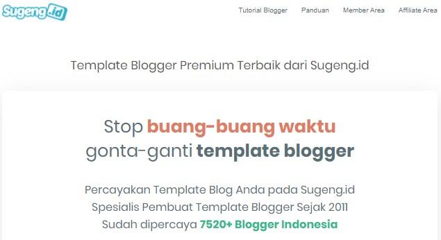 Template Blog Premium Terbaik untuk Google Adsense