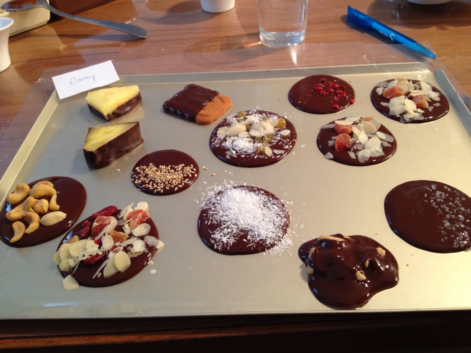 Brussels - We took a chocolate tour and got to make our own chocolates