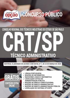 A Apostila CRT-SP em PDF - Técnico Administrativo - 2020 foi elaborada de acordo com o Edital 01/2020 do concurso, por professores especializados em cada matéria e com larga experiência em concursos.