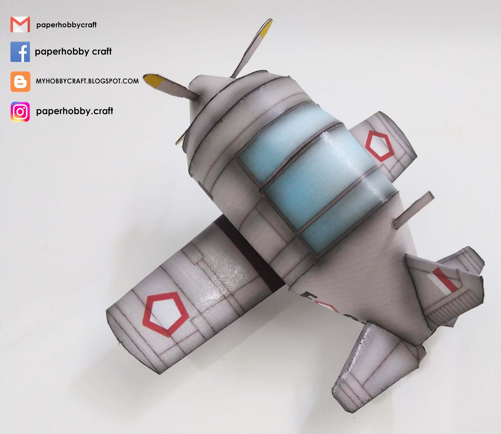 LAVOCHKIN LA-11 INDONESIAN AIR FORCE-TOON SCALE PAPERMODEL