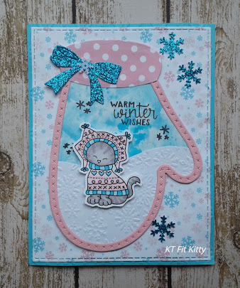 Warm winter wishes by KT Fit Kitty features Sweater Weather and Winter Memories by Newton's Nook Designs; #newtonsnook, #cardmaking, #wintercards