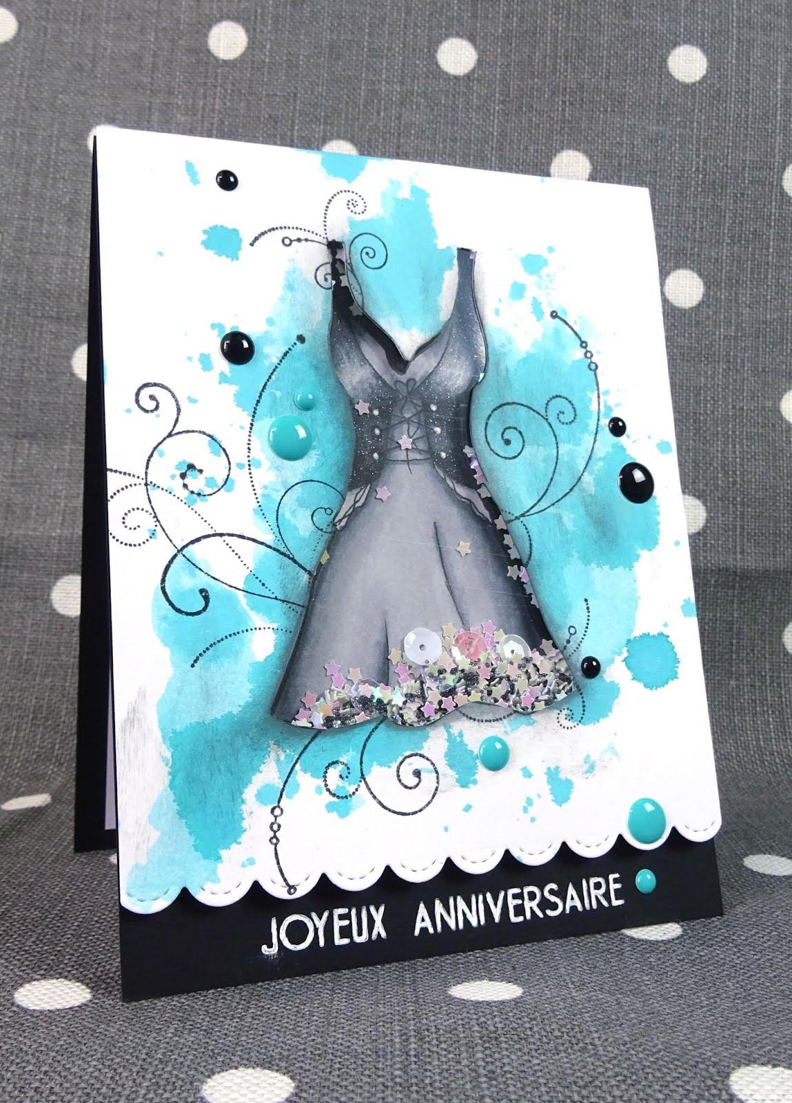 Anniversaire Carte La Robe Petite Noire BrCoxWeQdE