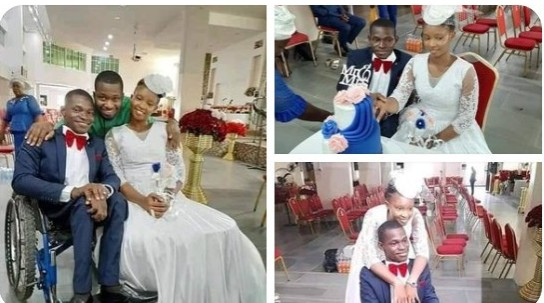 Twitter Users React As Woman Marries A Man In A Wheelchair In Lagos