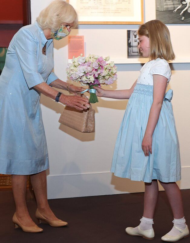 The Duchess of Cornwall toured the exhibition alongside Darcey Bussell, President of the Royal Academy Dance