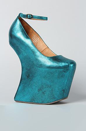 Jeffrey Campbell Teal Metallic Shoes