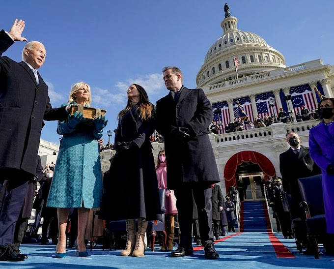 Photos/Videos: Biden becomes America's 46th President as he is sworn in on the steps of the Capitol 11 minutes early