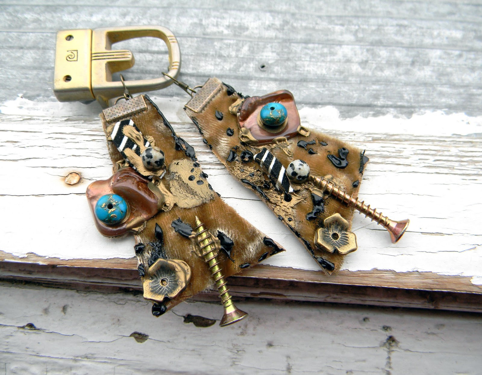 Unique Handmade Earrings Handcrafted Jewelry Fashion Original Jewelry Steampunk