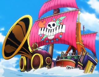 ワンピースアニメ   オンエア海賊団海賊船   On Air Pirates   ステイチューン号  Stay Tune   ONE PIECE   Hello Anime !