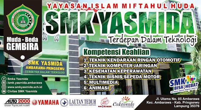 Desain Banner SMK Yasmida Ambarawa (Desain Kaca Mobil)