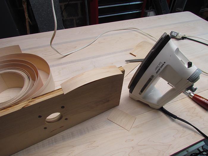 Veneer Edge Banding and Homebrew Varnish Finish for DIY
