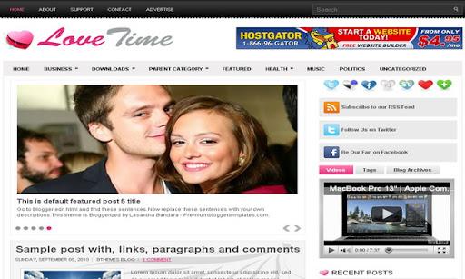 LoveTime Blogger Template