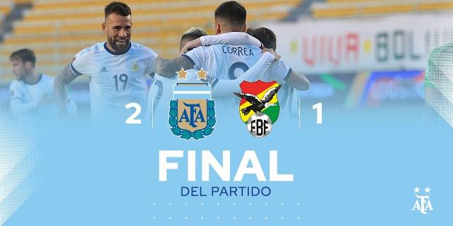 المنتخب الأرجنتيني بصعوبة يقلب الطاولة أمام بوليفيا و يحقق الفوز الثمين