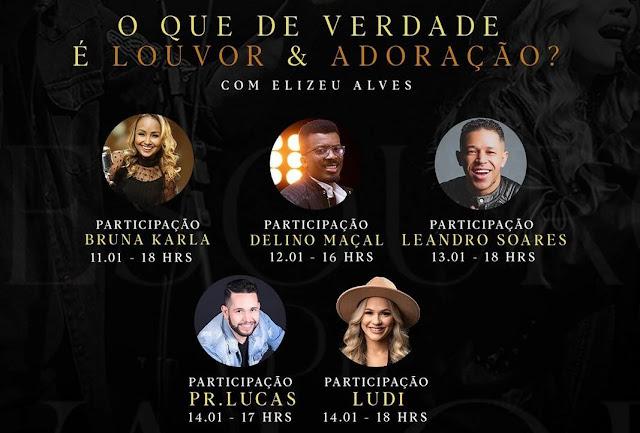 Cantor Elizeu Alves promove lives sobre louvor e adoração