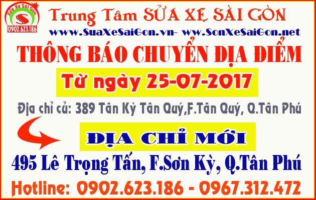 Trung tâm Sửa Xe Sài Gòn thông báo dời địa điểm mới