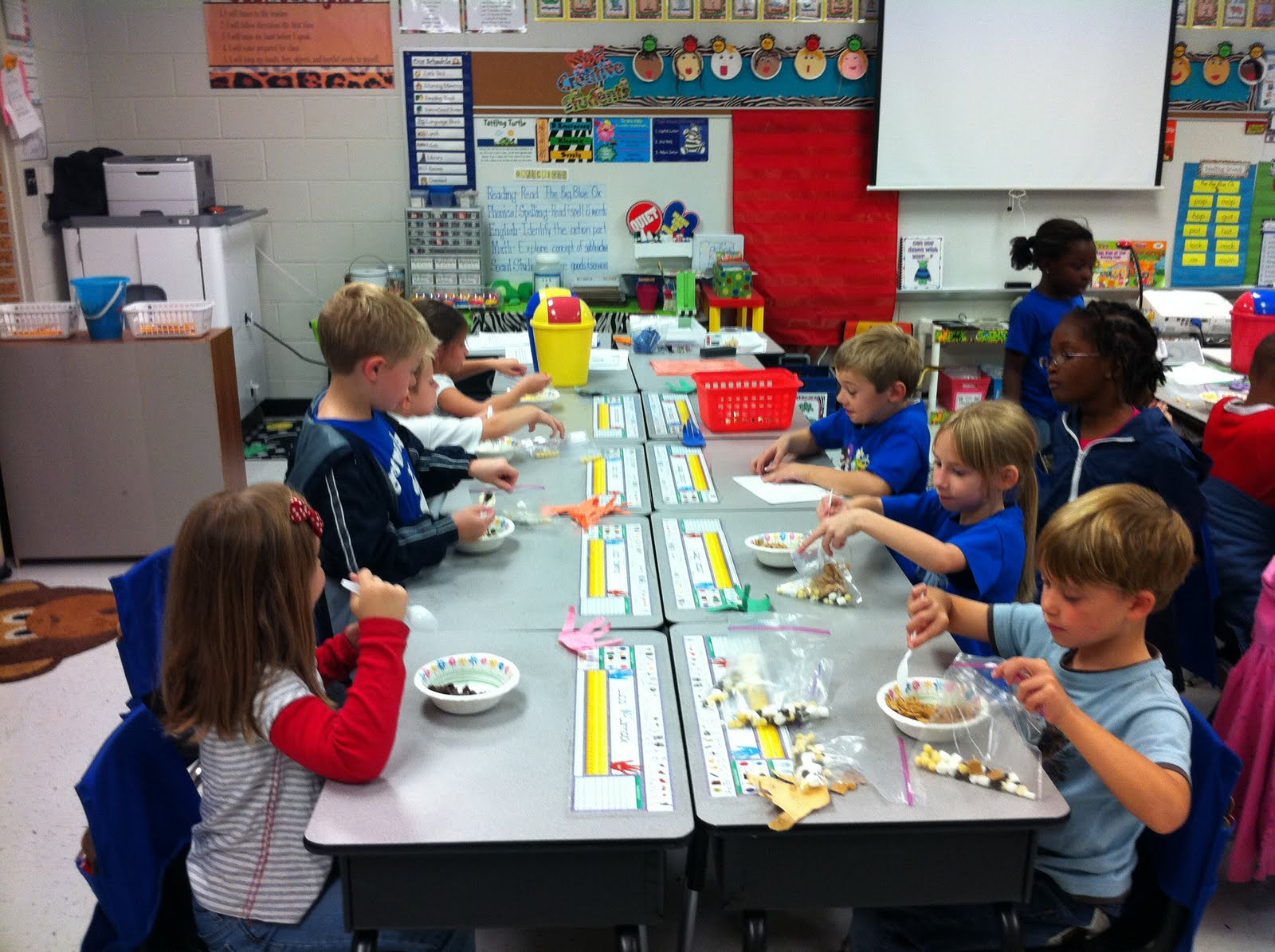 Polka Dot Teacher Snack Mix Assembly Line