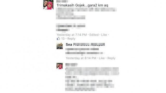 Status Facebook Wanita ini Jadi Viral, Karena Cerita Pengalamanya Naik Go-Jek