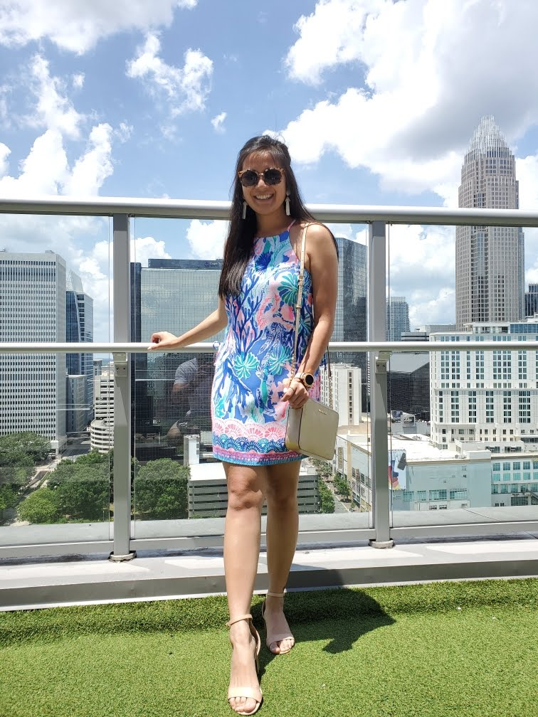 Lilly Pulitzer Pearl Romper in Multi Jet Stream
