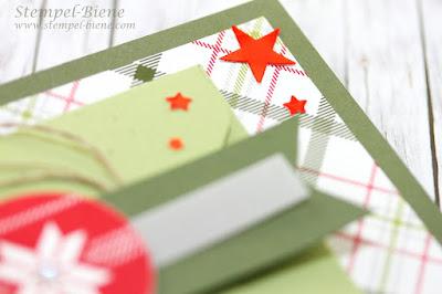 Stampin Up Gutscheine Weihnachten, Weihnachtsgutschein Stampin up, Geldgeschenkkarte zu Weihnachten, Match the Sketch, Stempel-Biene