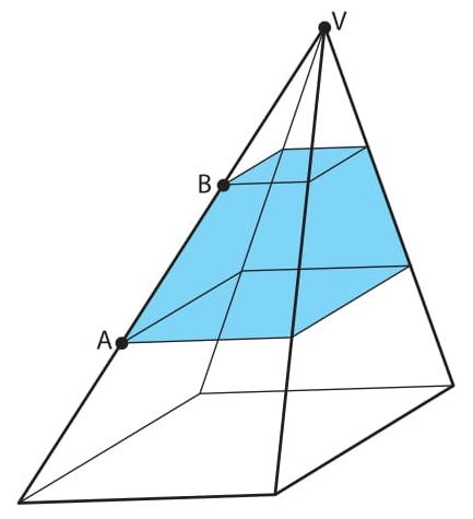 uma pirâmide de base quadrada