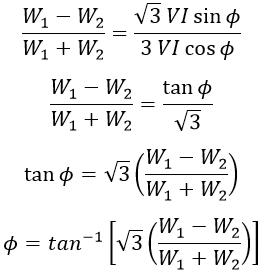 One Wattmeter Method