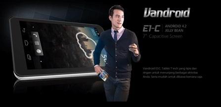 Harga Tablet Advan Vandroid E1C Tahun 2017 Lengkap Dengan Spesifikasi RAM 1GB Harga Rp. 700 Ribuan