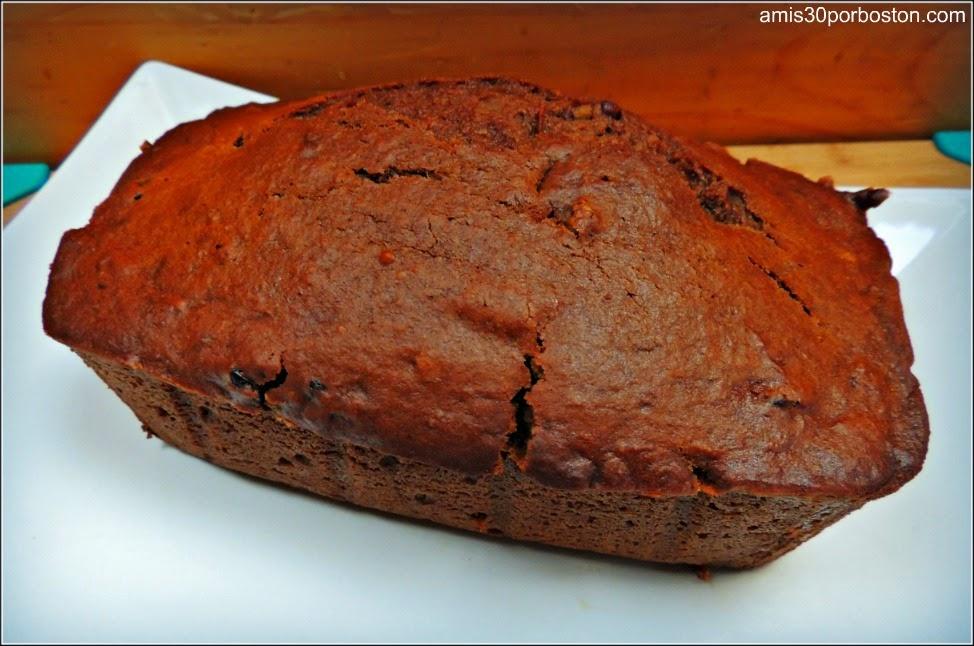 Pan de Calabaza con Nueces y Arándanos