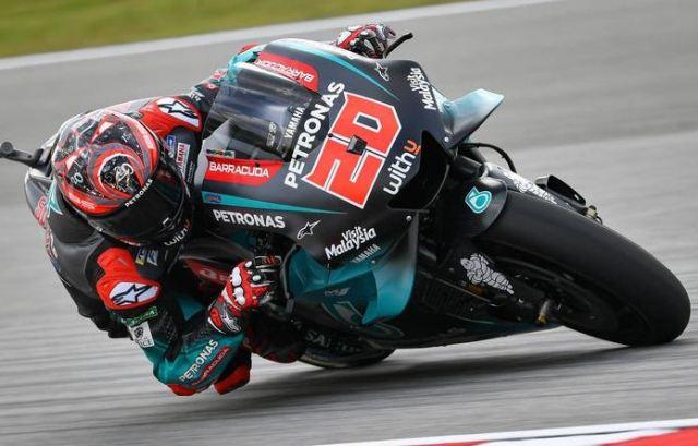 Hasil MotoGP Ceko: QuartararoTercepat FP4, Rossi Kelima