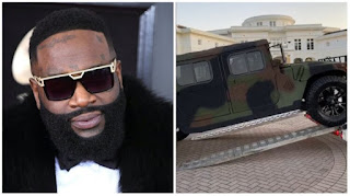US Rapper Rick Ross Acquires Customized Military Maybach Humvee