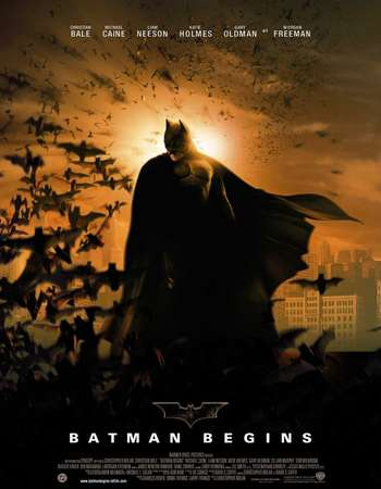 Poster Of Batman Begins 2005 Hindi Dual Audio 650MB BluRay 720p ESubs HEVC Free Download Watch Online downloadhub.in