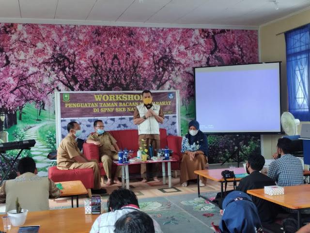 Beri Materi Acara Workshop Penguatan TBM, Kadisdik Kabupaten Natuna Apresiasi Pegiat Literasi
