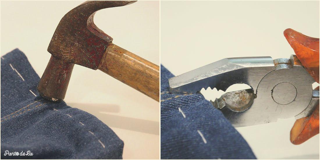 8 trucos para coser el bajo de un pantalón vaquero - Machacar las costuras laterales