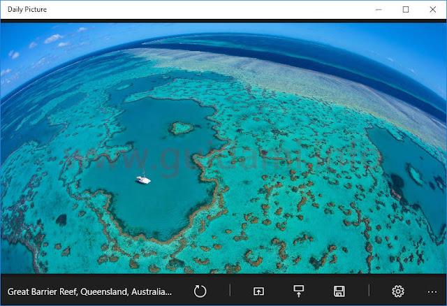 Windows 10 app Daily Picture schermata iniziale