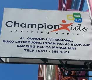 Lowongan Kerja Guru Bahasa Inggris TK dan SD di Champion Kids Makassar