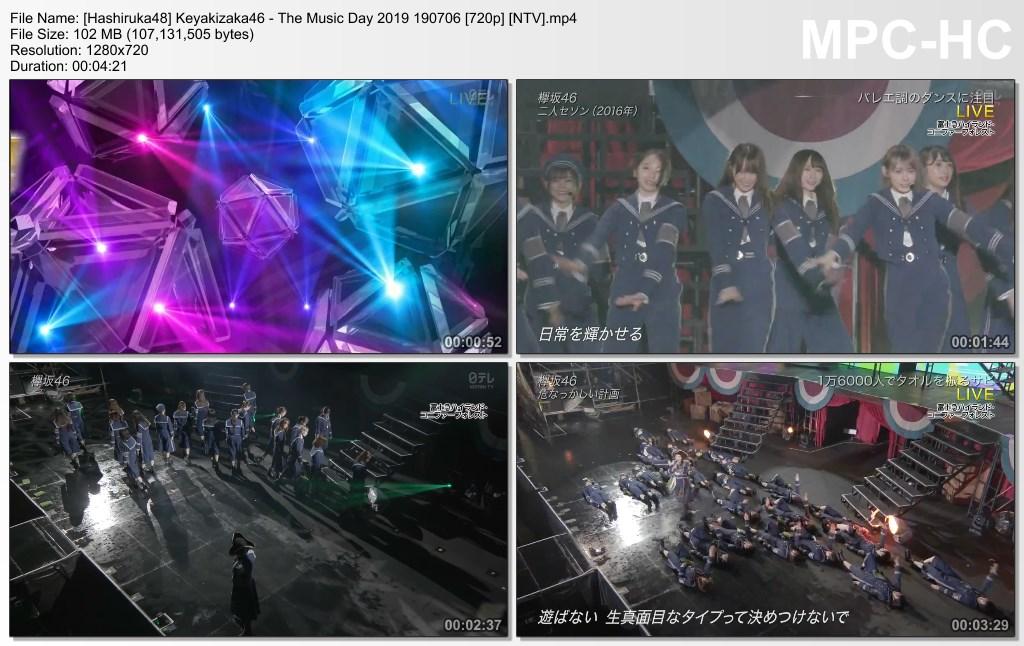 Keyakizaka46 - The Music Day 2019 190706 (NTV) - Hashiruka48