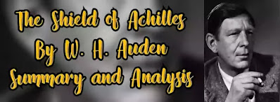 The Shield of Achilles was first published in Poetry October 1952, was later included in the volume of poems entitled, The shield of Achilles and in the Collected Shorter Poems. The Shield of Achilles is the title poem in the collection. The shield here symbolizes an image of the human condition.