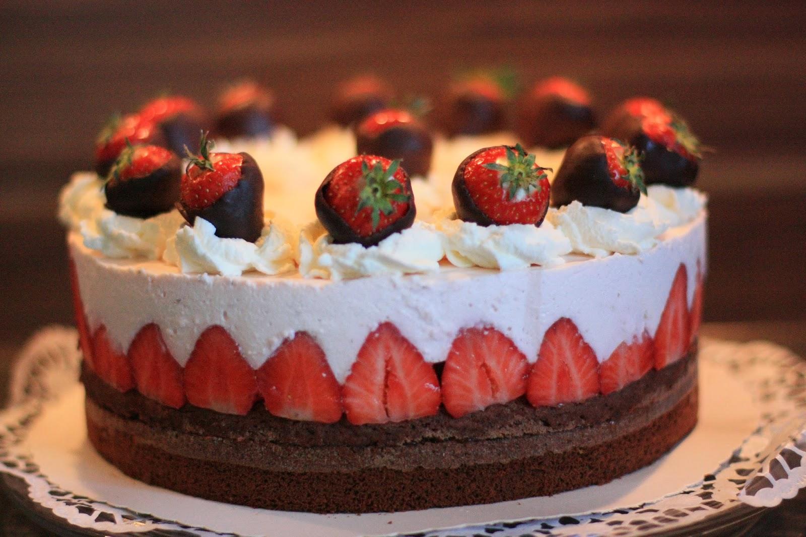 Susse Sunden Erdbeer Schoko Torte