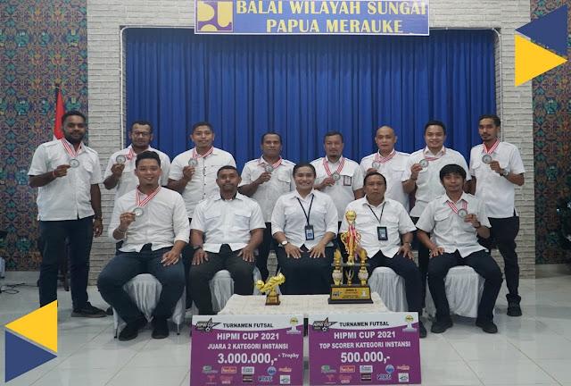 Tim Futsal BWS Papua Merauke Raih Juara II Turnamen Futsal HIPMI CUP 2021.lelemuku.com.jpg