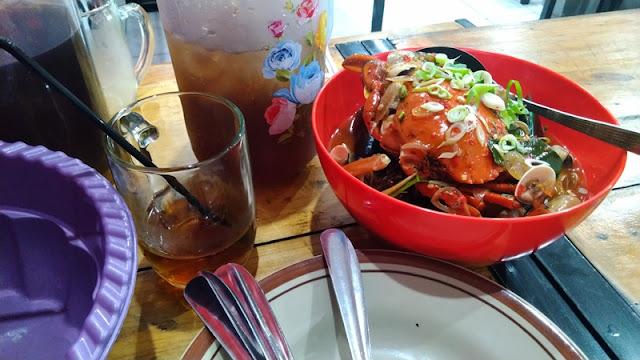 menu kepiting di Semarang
