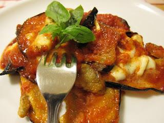 Leon d'Oro Restaurant, Piazza Dante, Naples, eggplant parmesan