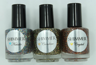 Shimmer Polish - Natalie, Candace & Crystal