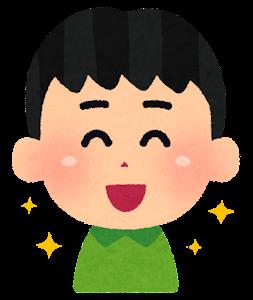 口の周りが綺麗な子供のイラスト(男の子)