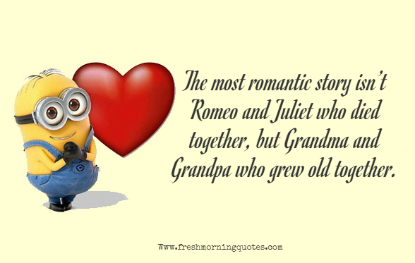 the most romantic love story minion love quotes