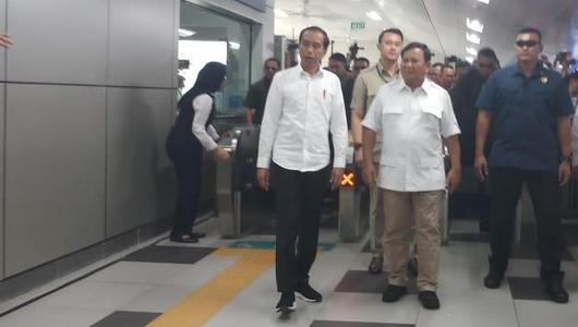 Bertemu Prabowo di MRT, Jokowi: Ini Pertemuan dengan Sahabat dan Saudara