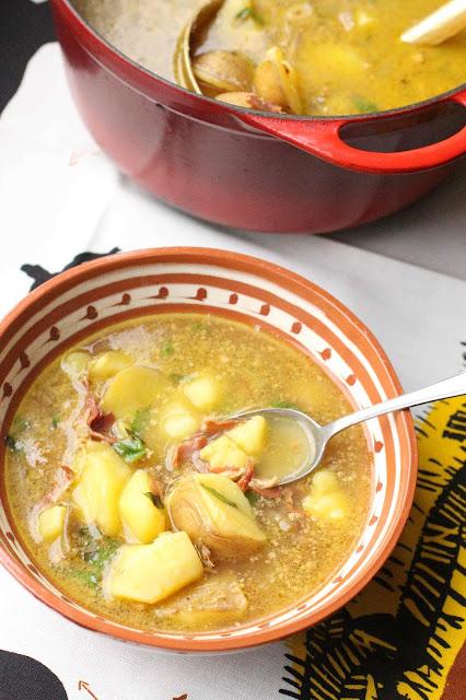 soupe espagnole aux pommes de terre