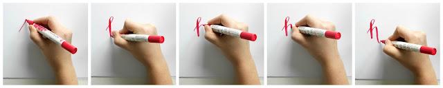 Ecoline Brush Pen werkwijze