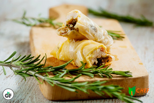 GLUTTEN FREE Chicken and Asparagus Wrapped in Spring Roll Wrappers