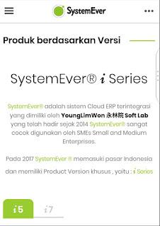 ProdukSystemEver berdasarkan Versi