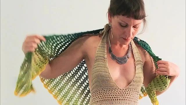 "Vestido ""Mallorca"" a Crochet"