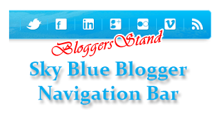 Blue Sky Navigation Menu Bar