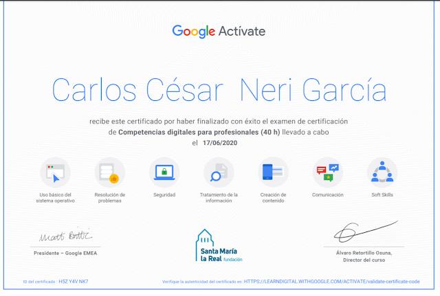 Certificación de Competencias digitales para profesionales